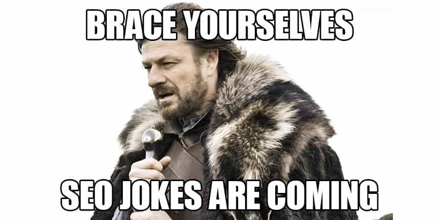 Brace yourselves SEO Jokes are coming - SEO Meme