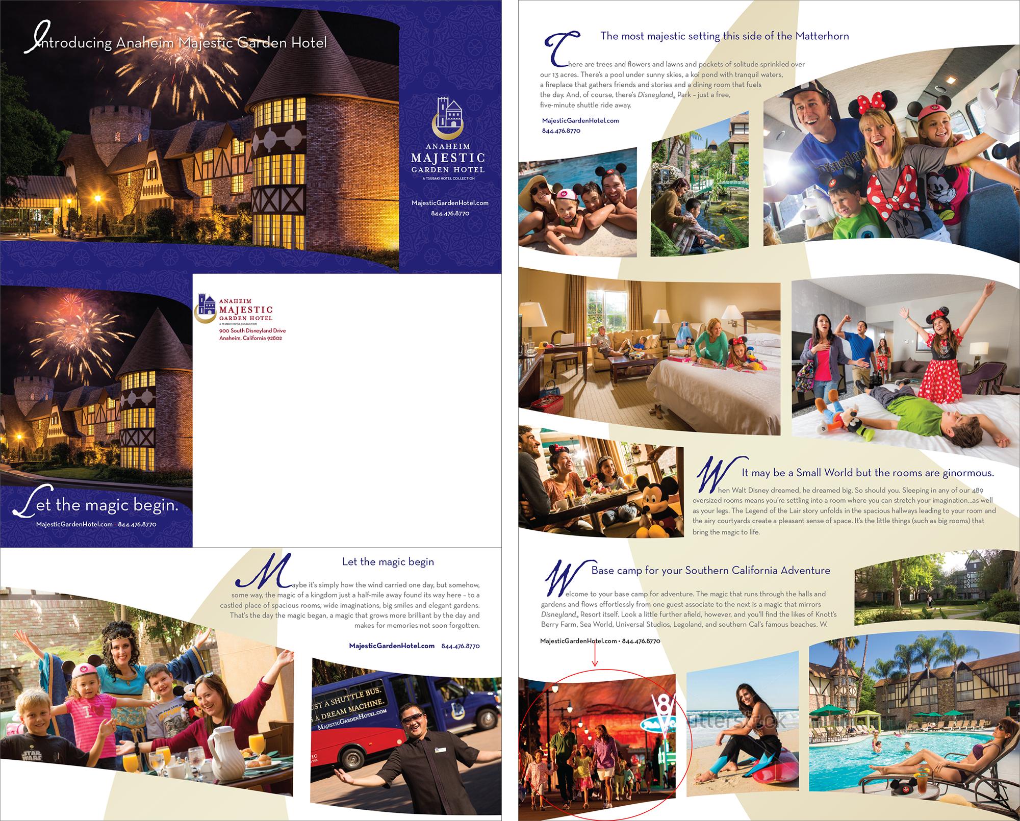 Anaheim Majestic Garden Hotel Brochure