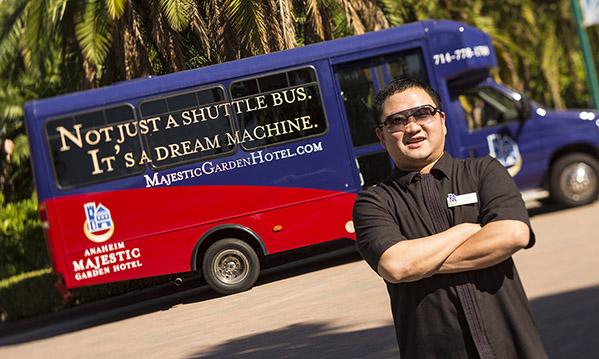 Dream Machine Shuttle Branding