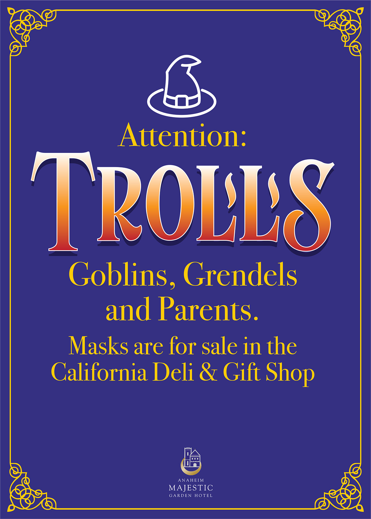 Attention Trolls Safety Sign
