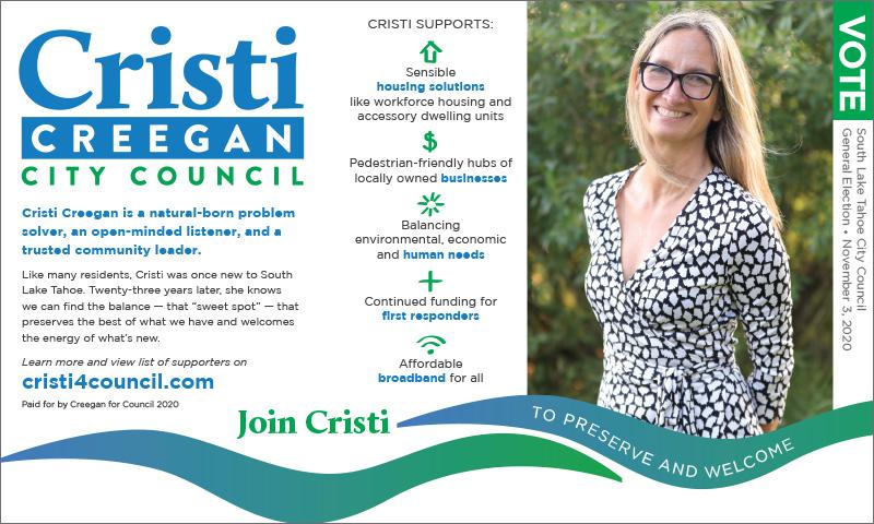 Cristi Creegan City Council Print Ad