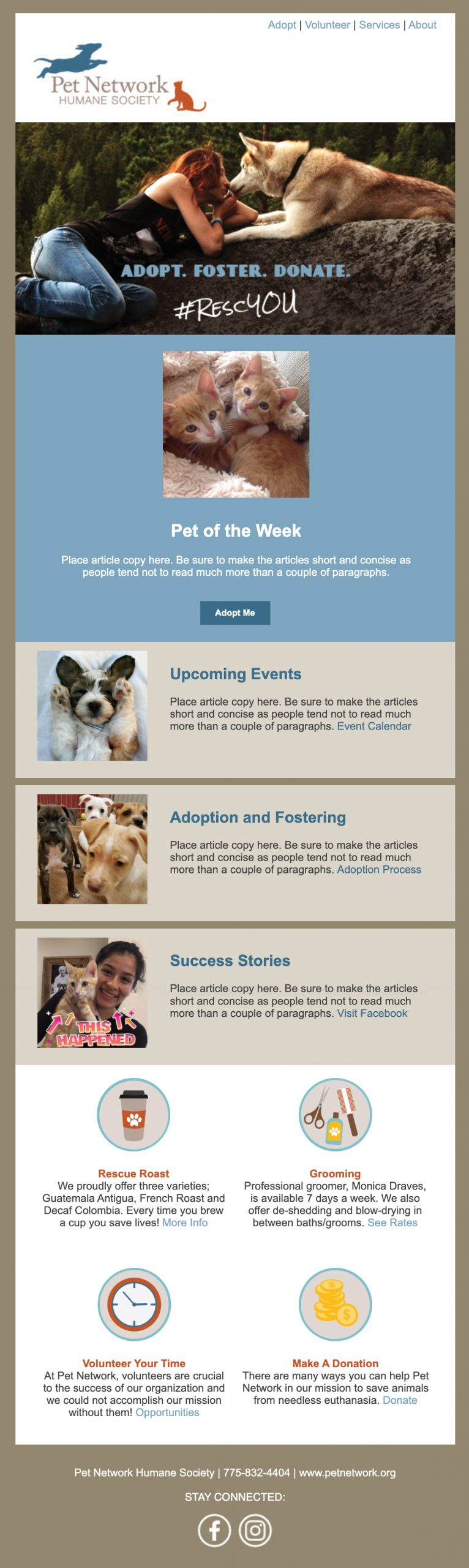 Pet Network Email Template