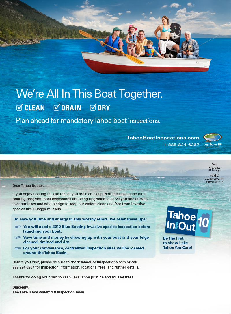 Tahoe Boat Inspection Direct Mail