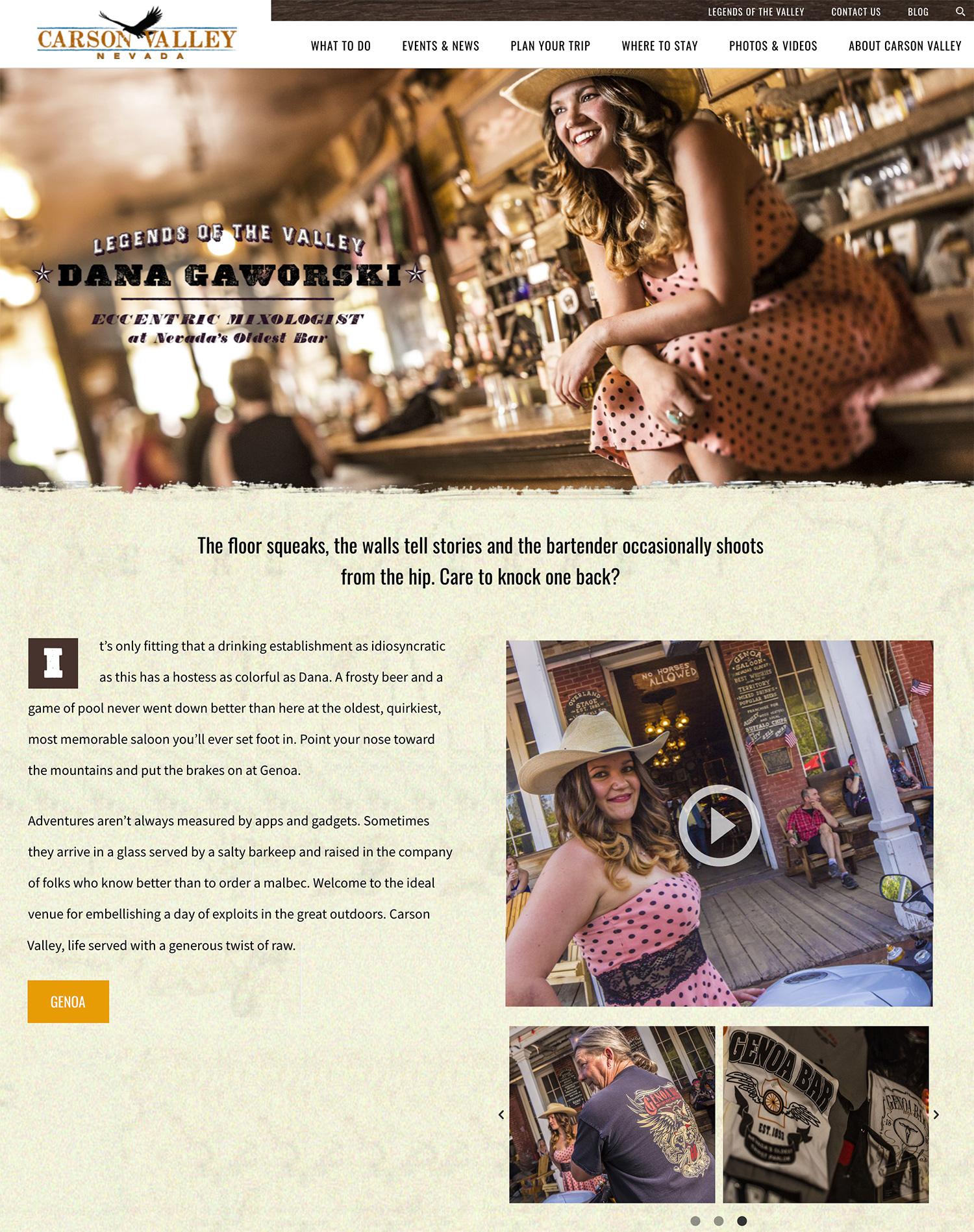 Visitors Authority Website Design