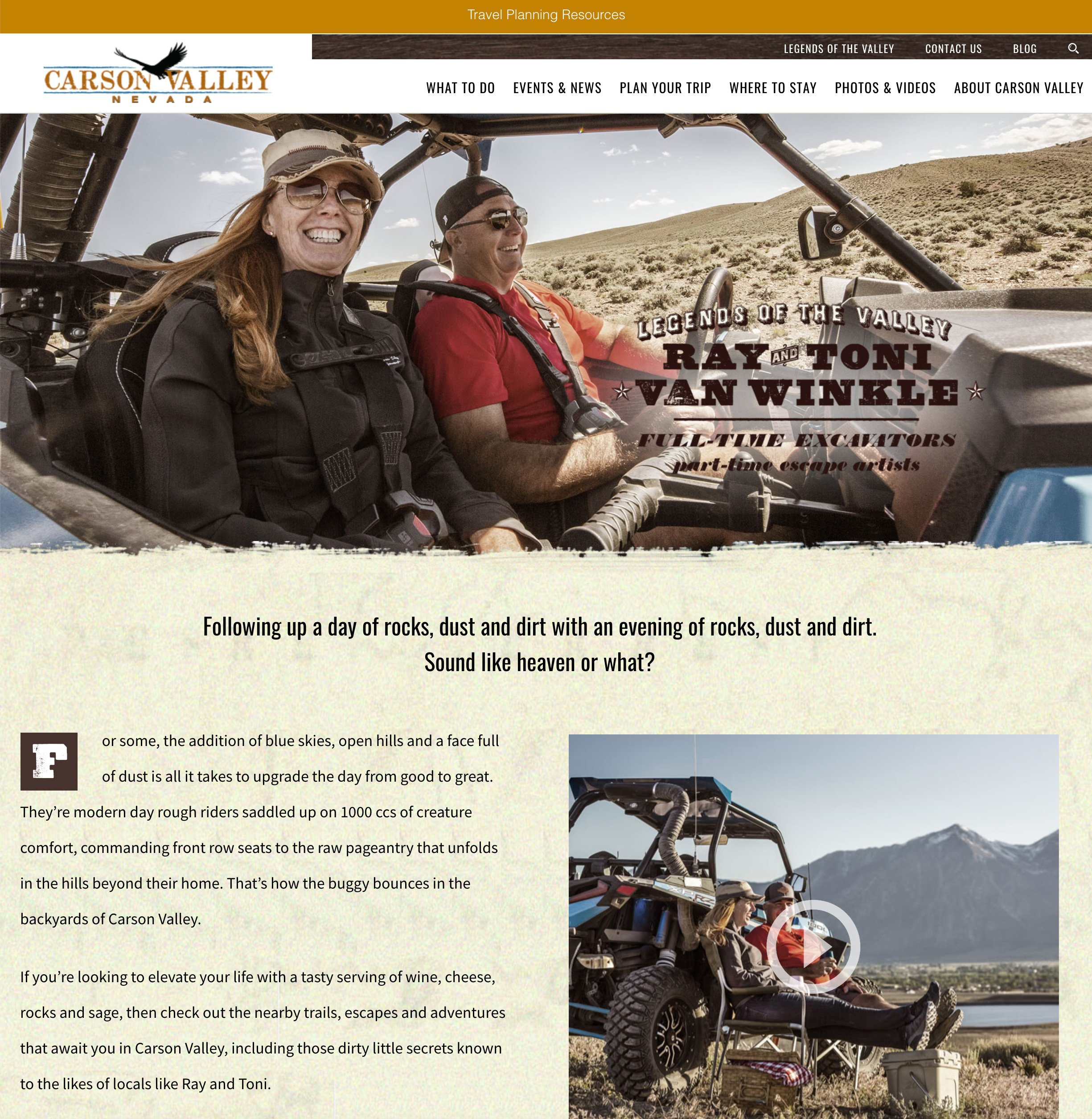 ray and toni web page